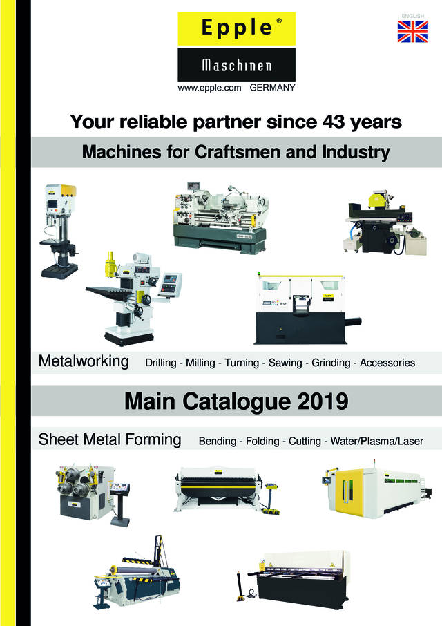 Epple Maschinen main catalogue 2019